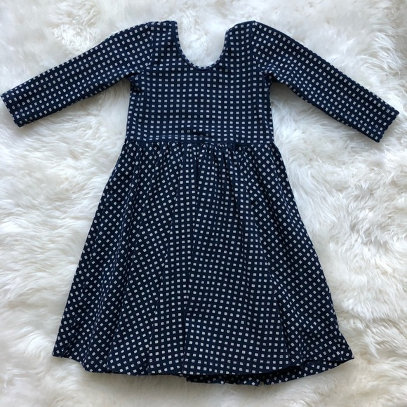 fb068e96168a Alice & Ames Dresses | Alice Ames Navy W Ivory Check Spin Dress ...